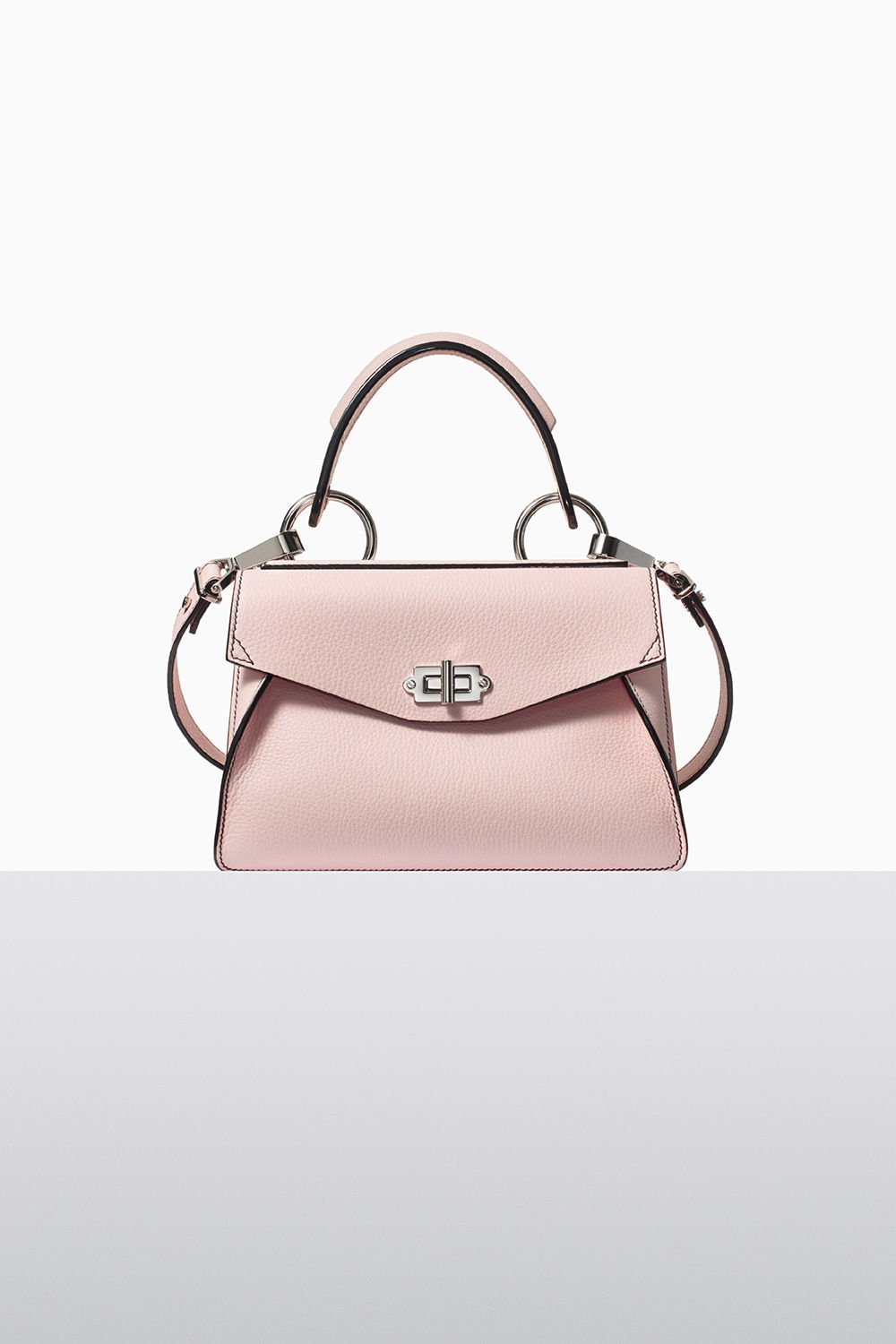 proenza schouler fall 2017 rose quartz lindos small hava top handle bag
