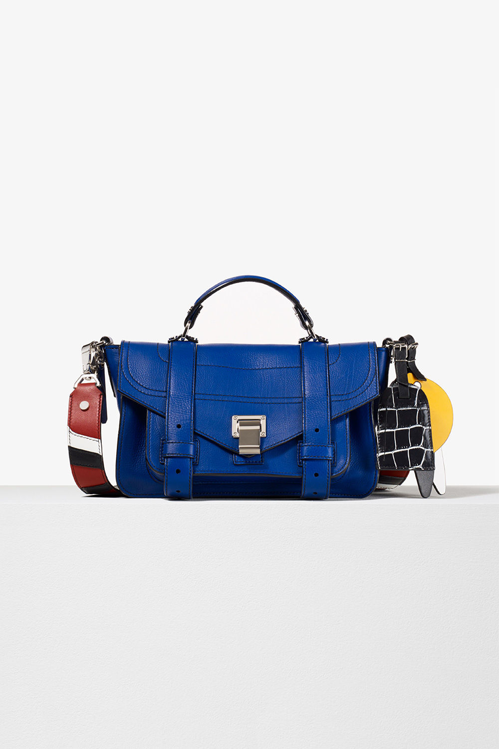 proenza schouler spring 2017 lapsi grainy calf leather ps1+ tiny bag with patchwork strap