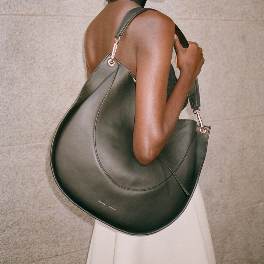 Campaign image of the hobo bag in black