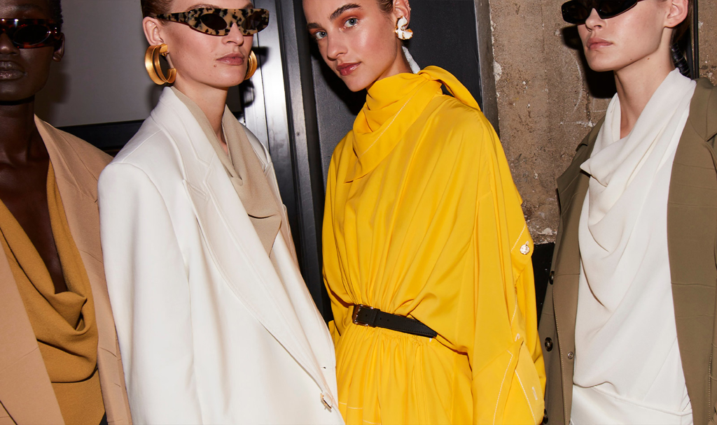 Backstage image of runway models from the Spring/Summer 2020 Runway show