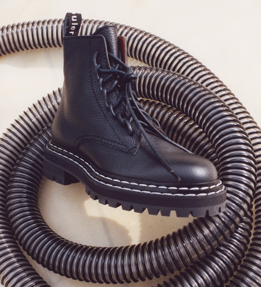 The lug sole boots are back in stock