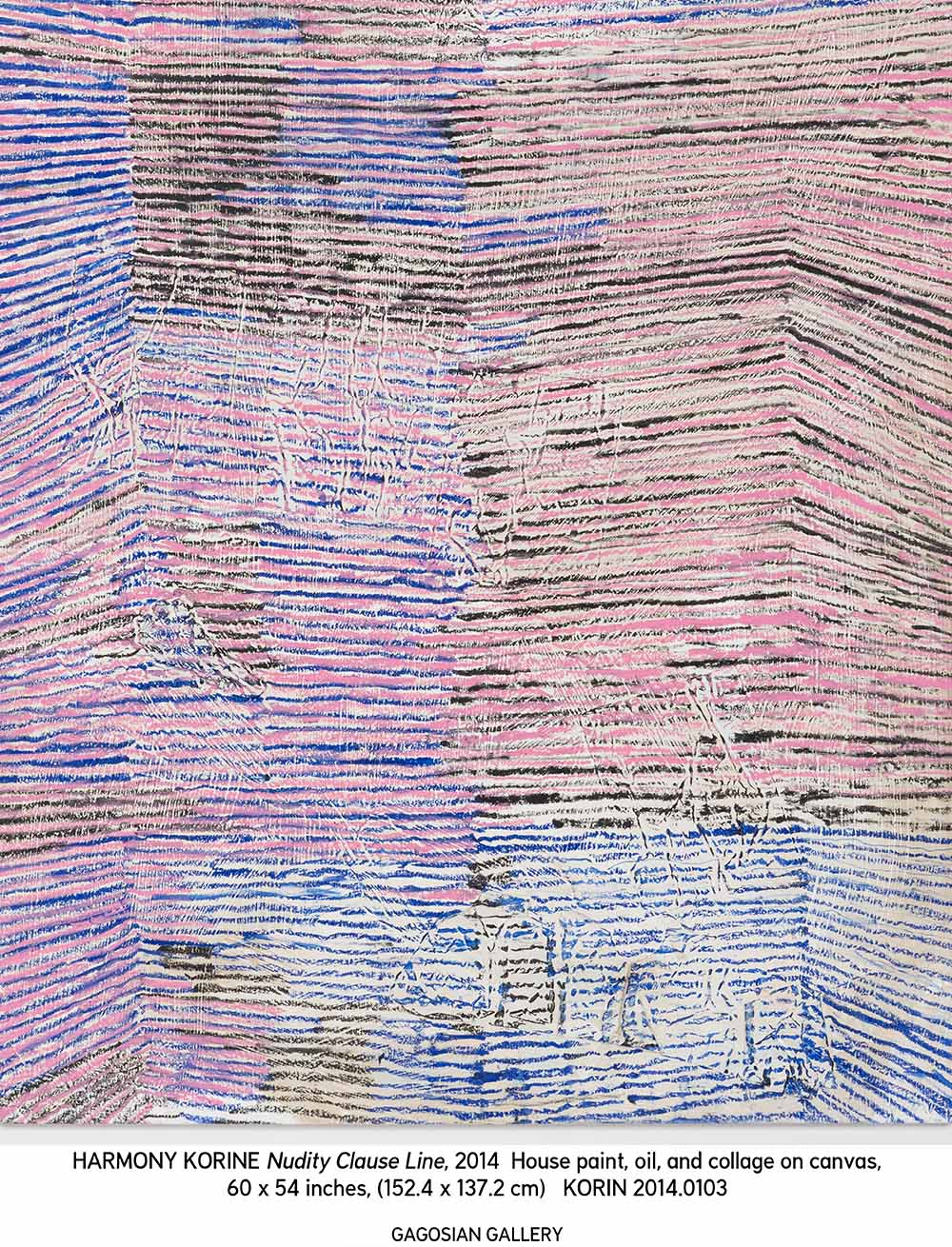 painting by harmony korine nudity clause line, 2014 as featured on the PS1  tiny