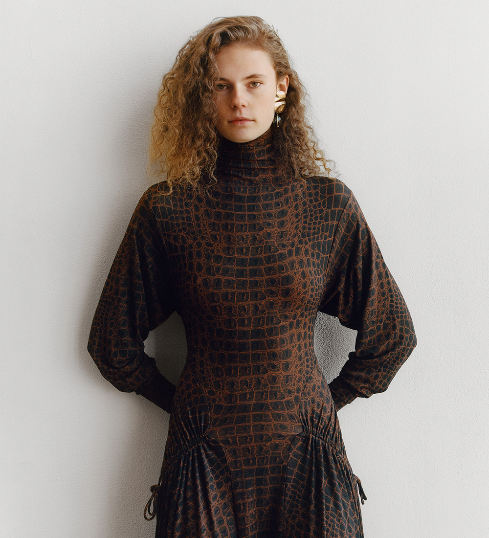 the pre-spring 2020 croc print dress
