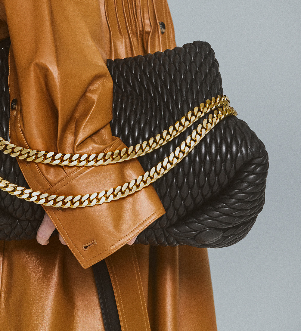image of the black quilted harris bag