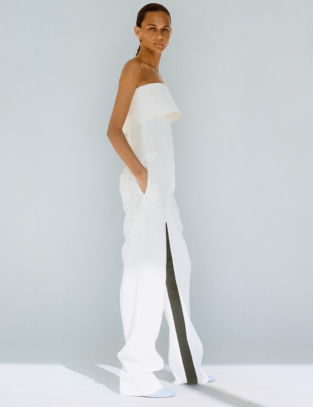 SS21 Look 31: White jumpsuit