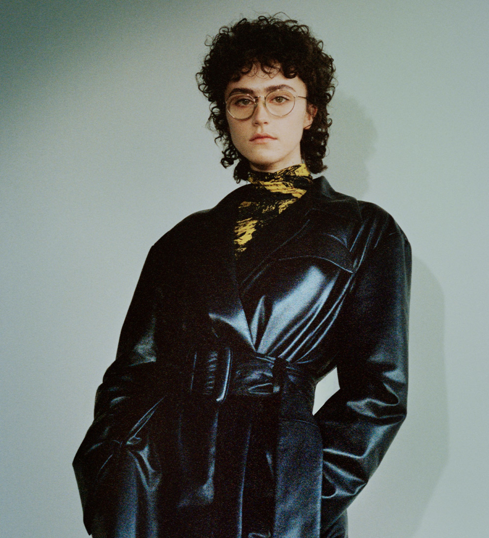 campaign image with the ella in leather jacket - pre order fw21
