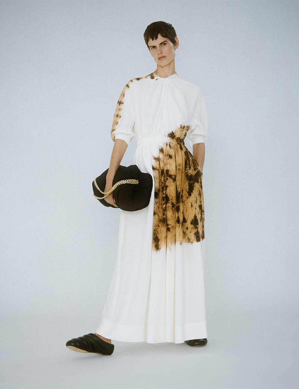 SS21 Look 7: Brown Tie Dye Dress