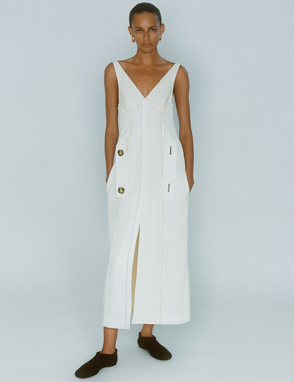 SS21 Look 3: White Dress